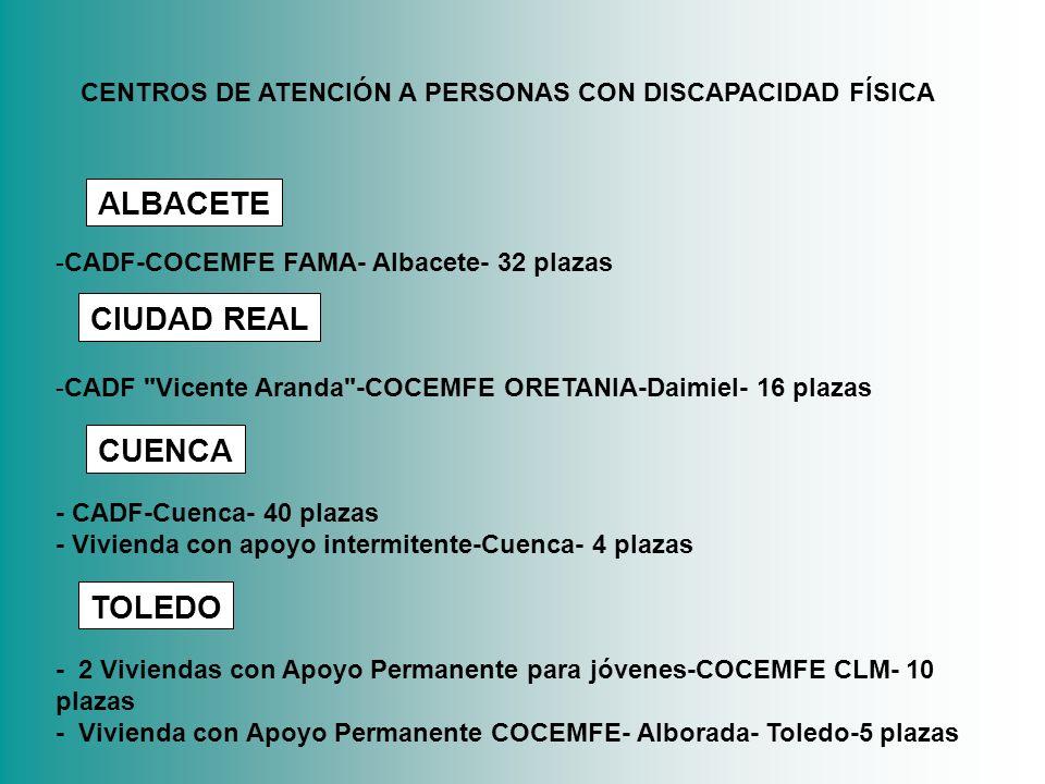 ALBACETE CIUDAD REAL CUENCA TOLEDO