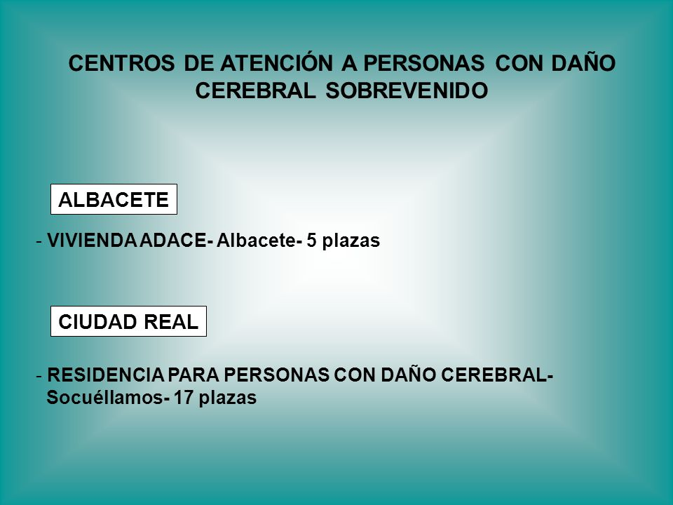CENTROS DE ATENCIÓN A PERSONAS CON DAÑO CEREBRAL SOBREVENIDO
