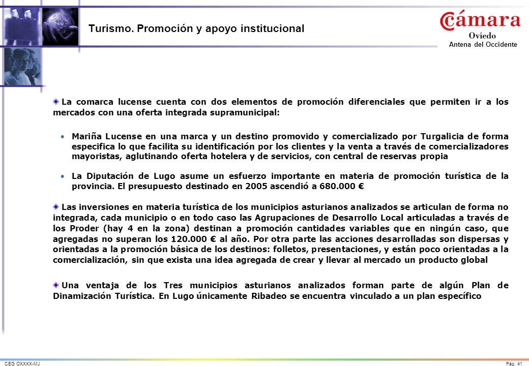 Turismo. Promoción y apoyo institucional