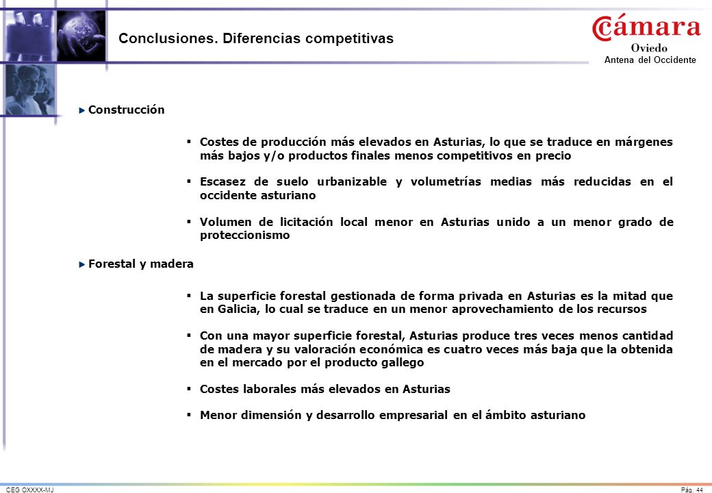 Conclusiones. Diferencias competitivas