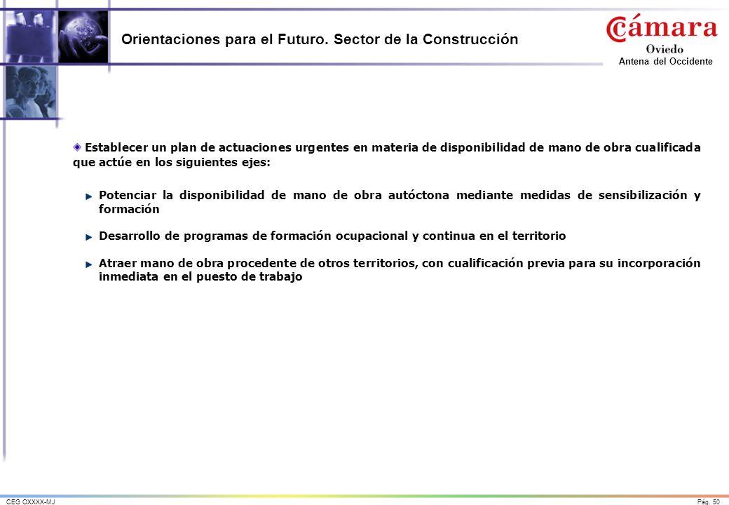 Orientaciones para el Futuro. Sector de la Construcción