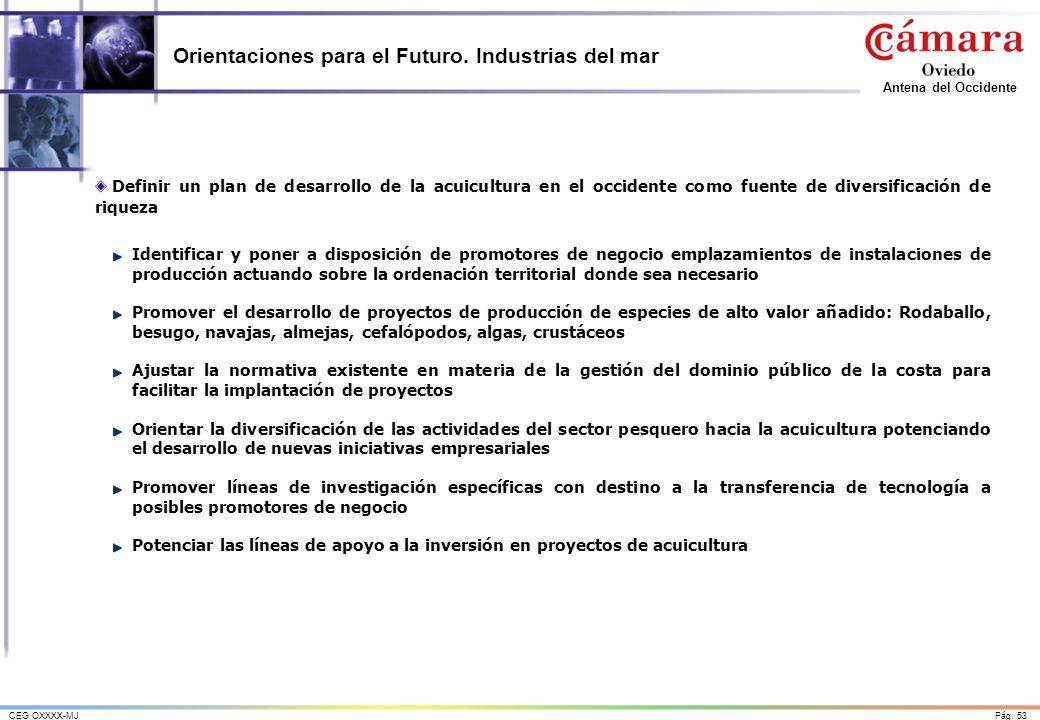 Orientaciones para el Futuro. Industrias del mar