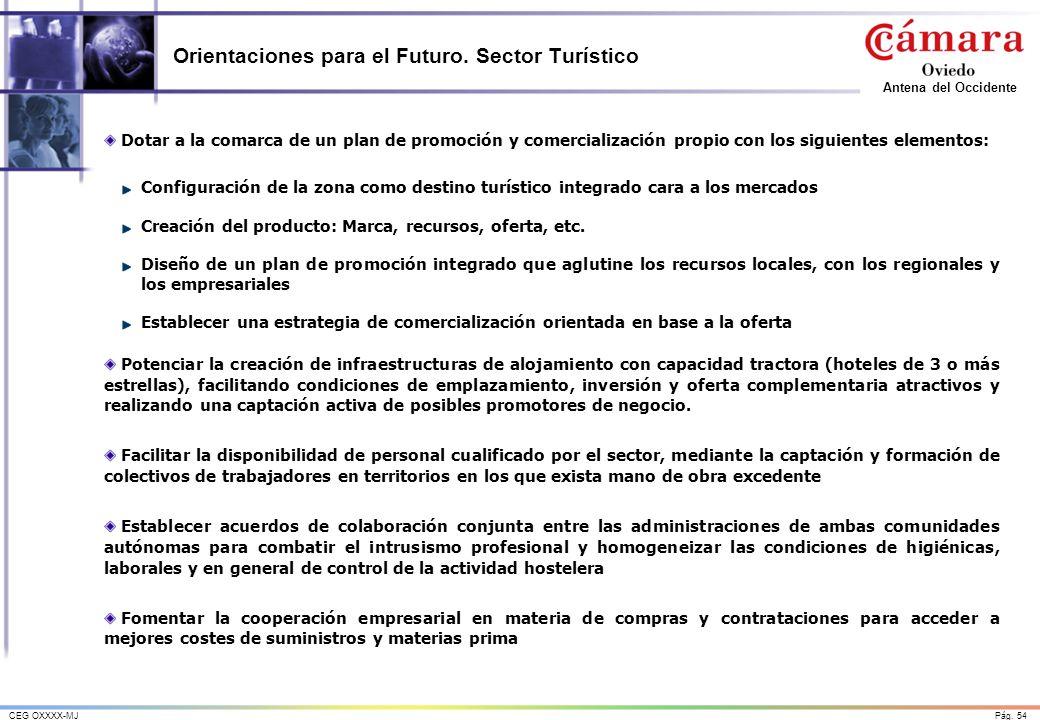 Orientaciones para el Futuro. Sector Turístico