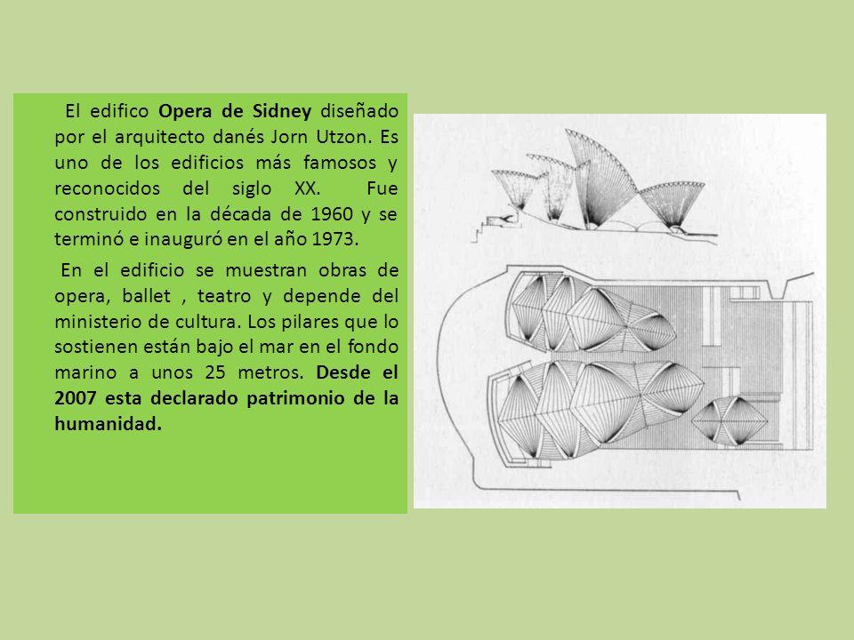 El edifico Opera de Sidney diseñado por el arquitecto danés Jorn Utzon