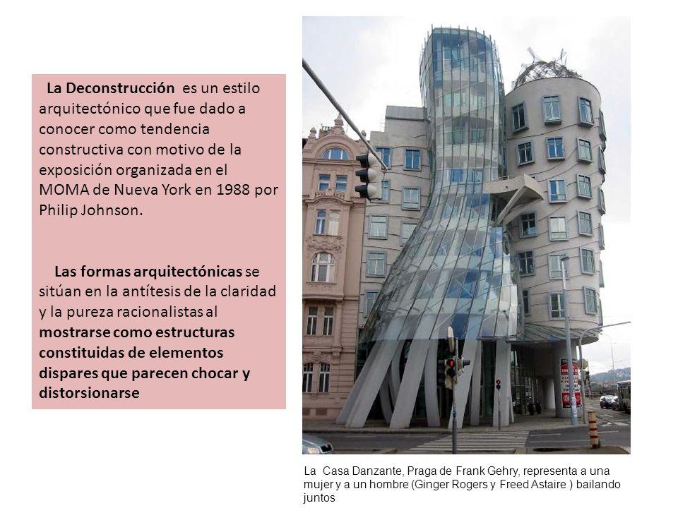 La Deconstrucción es un estilo arquitectónico que fue dado a conocer como tendencia constructiva con motivo de la exposición organizada en el MOMA de Nueva York en 1988 por Philip Johnson.