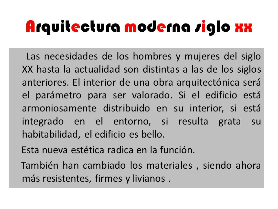 Arquitectura moderna siglo xx