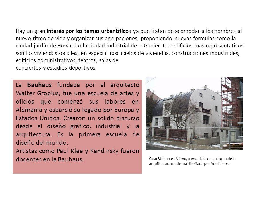 Artistas como Paul Klee y Kandinsky fueron docentes en la Bauhaus.