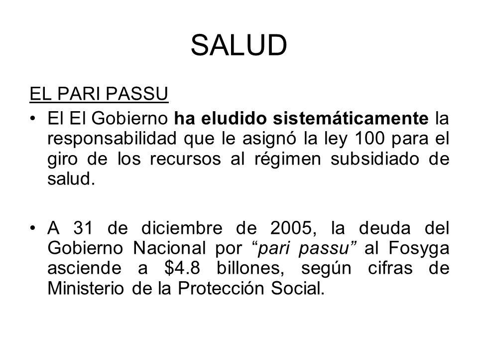 SALUD EL PARI PASSU.