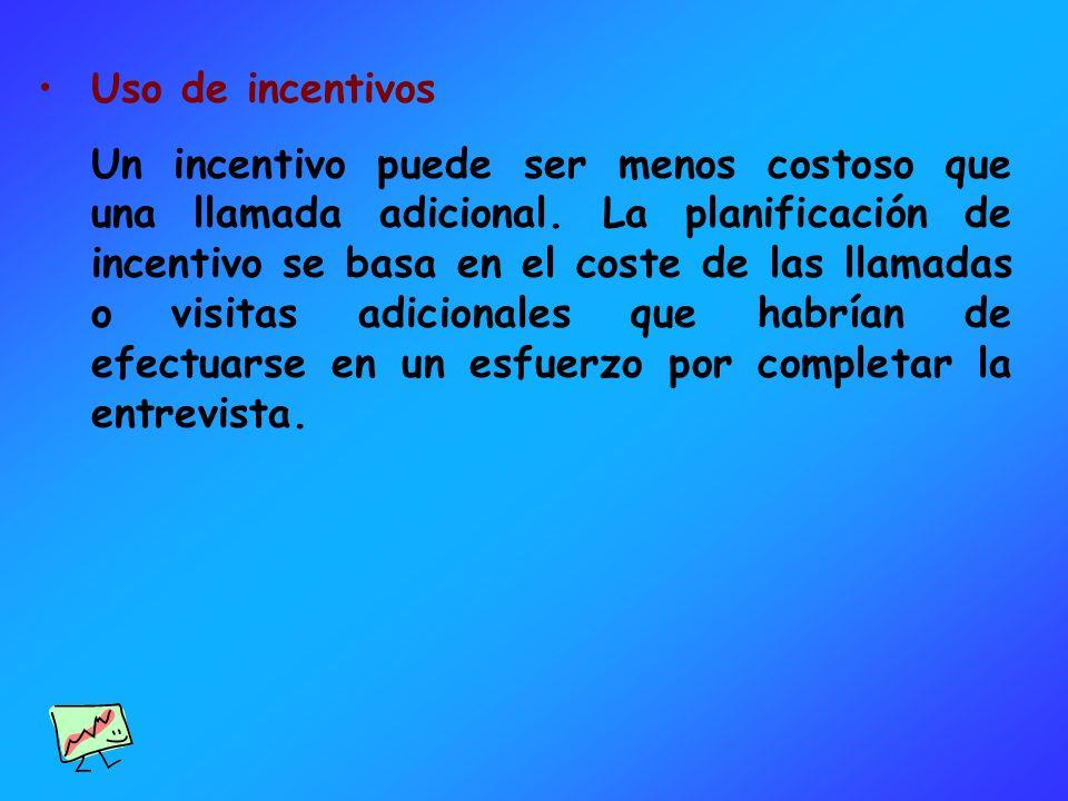 Uso de incentivos