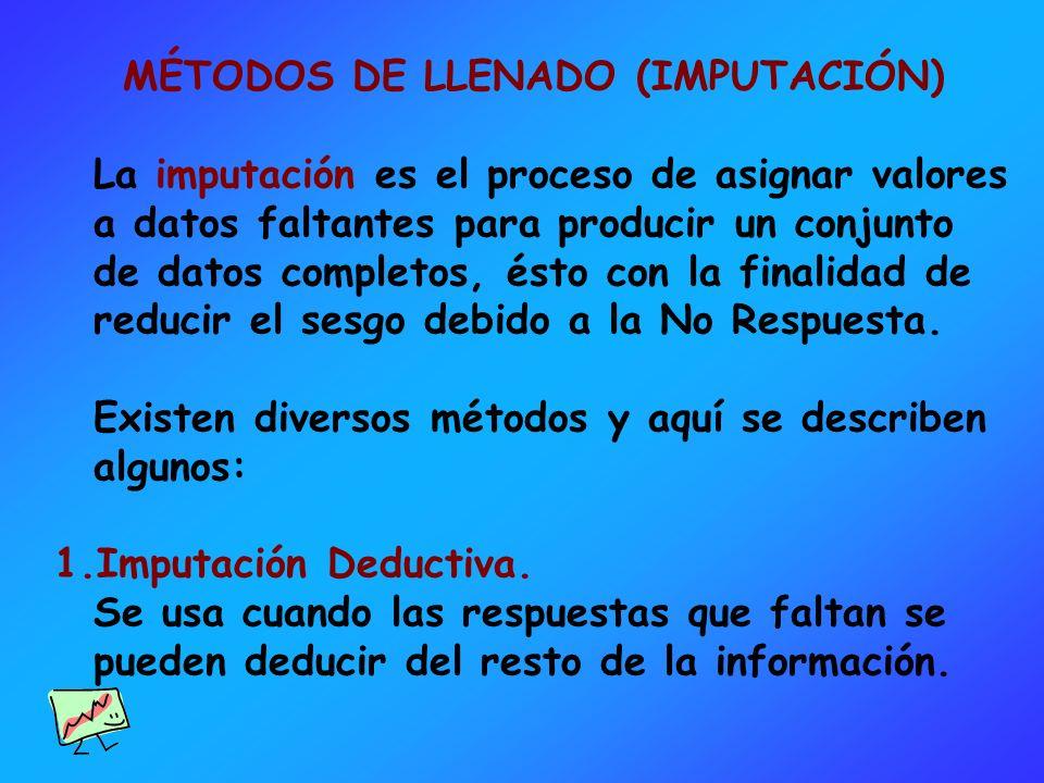 MÉTODOS DE LLENADO (IMPUTACIÓN)
