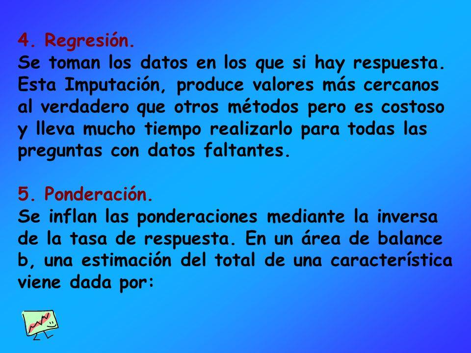 4. Regresión.