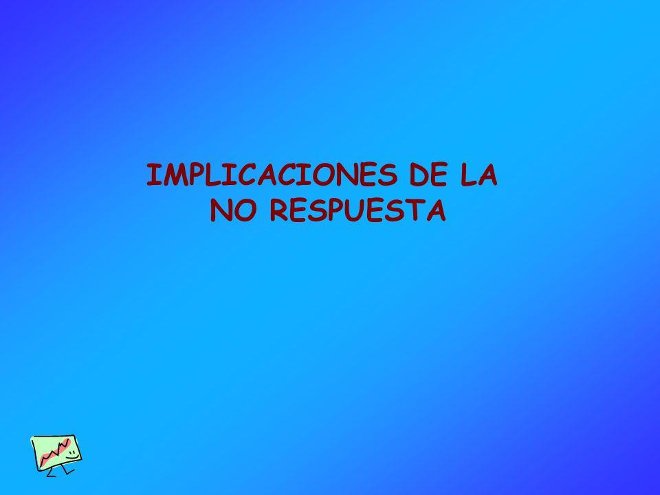 IMPLICACIONES DE LA NO RESPUESTA