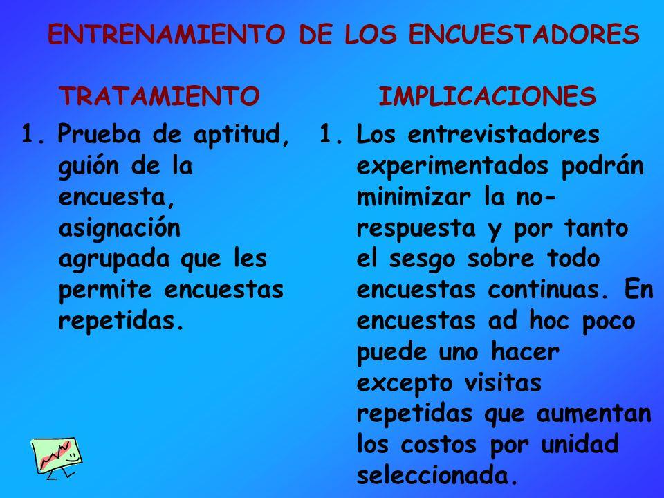 ENTRENAMIENTO DE LOS ENCUESTADORES