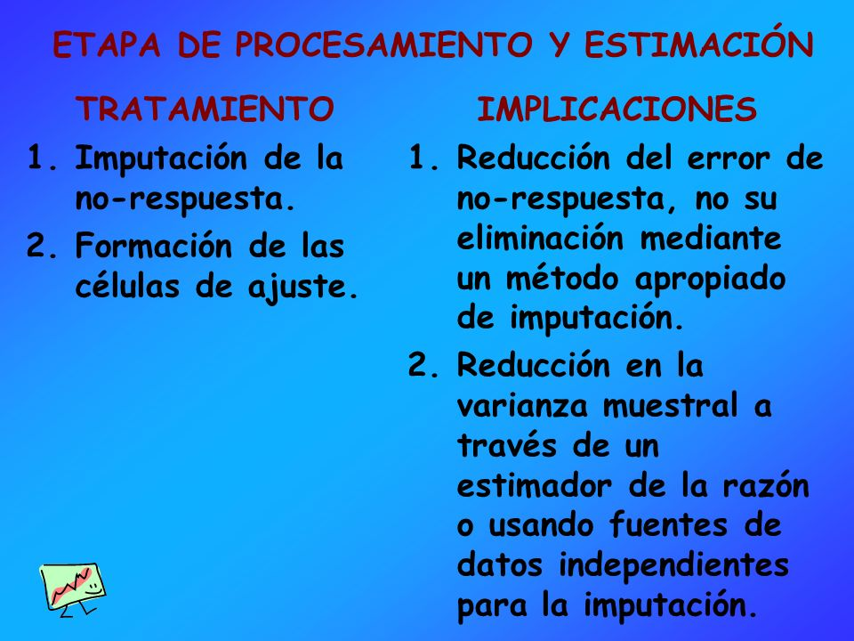 ETAPA DE PROCESAMIENTO Y ESTIMACIÓN