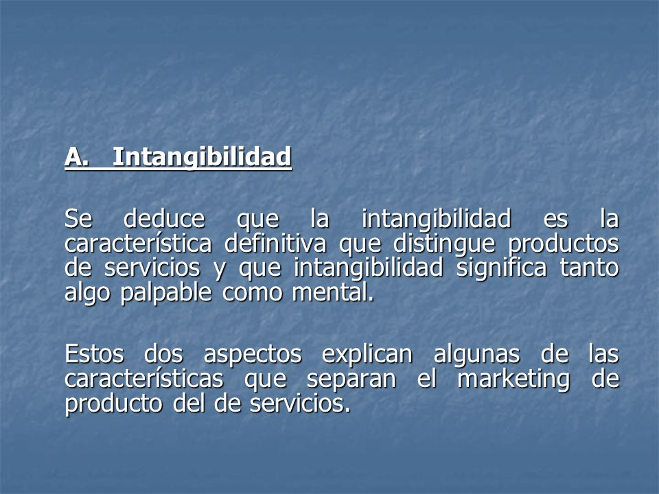 A. Intangibilidad