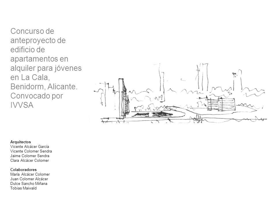 Concurso de anteproyecto de edificio de apartamentos en alquiler para jóvenes en La Cala, Benidorm, Alicante. Convocado por IVVSA