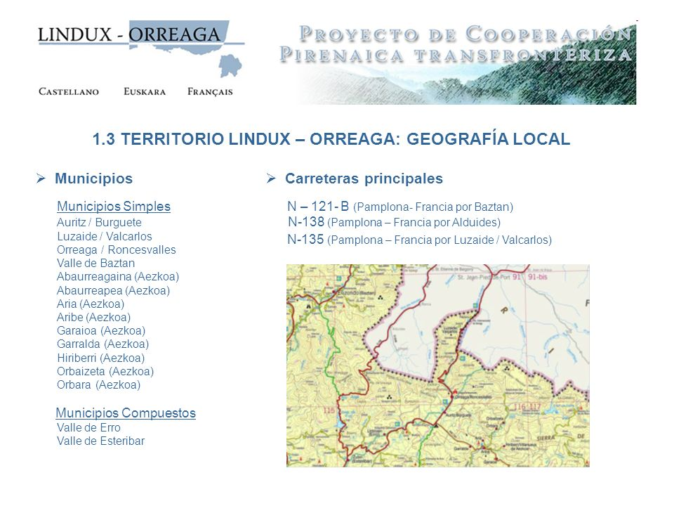1.3 TERRITORIO LINDUX – ORREAGA: GEOGRAFÍA LOCAL