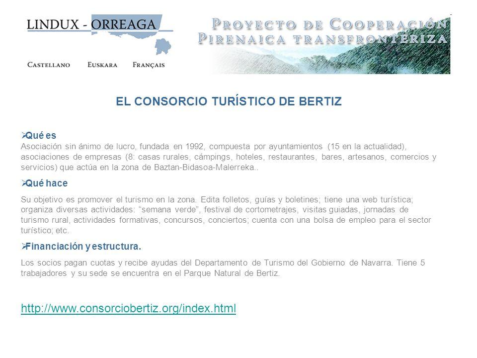 EL CONSORCIO TURÍSTICO DE BERTIZ