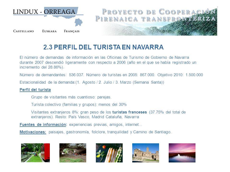 2.3 PERFIL DEL TURISTA EN NAVARRA