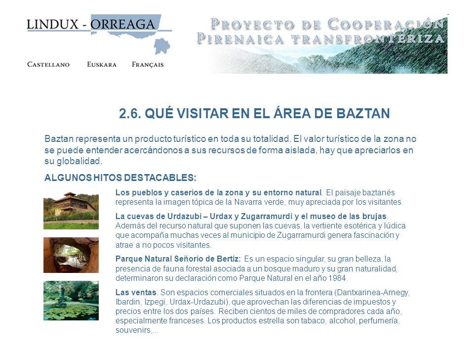 2.6. QUÉ VISITAR EN EL ÁREA DE BAZTAN