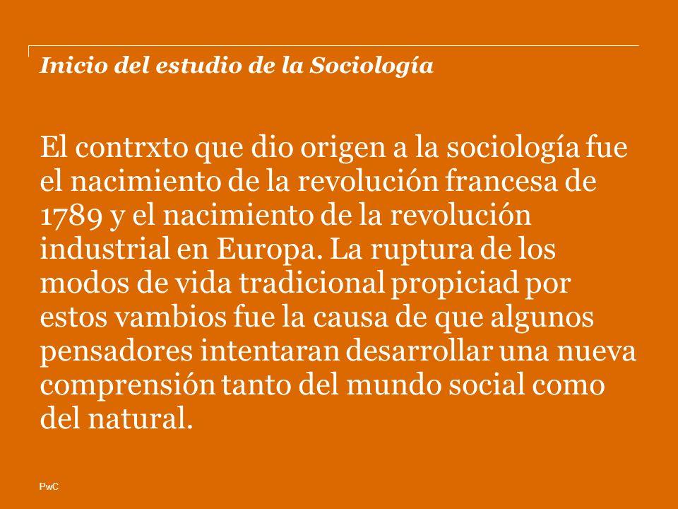 Inicio del estudio de la Sociología