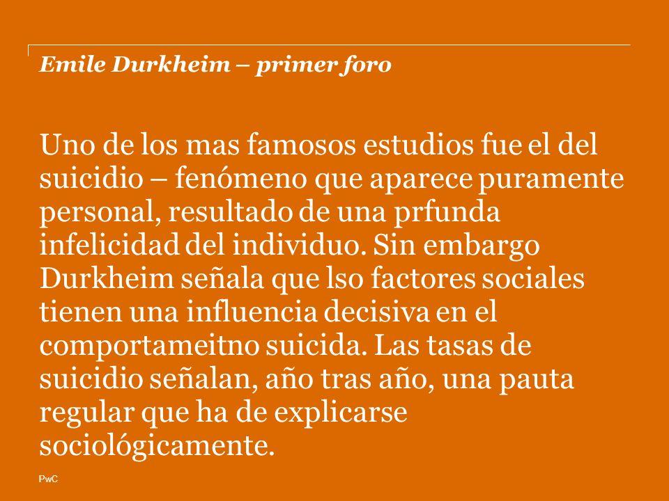Emile Durkheim – primer foro