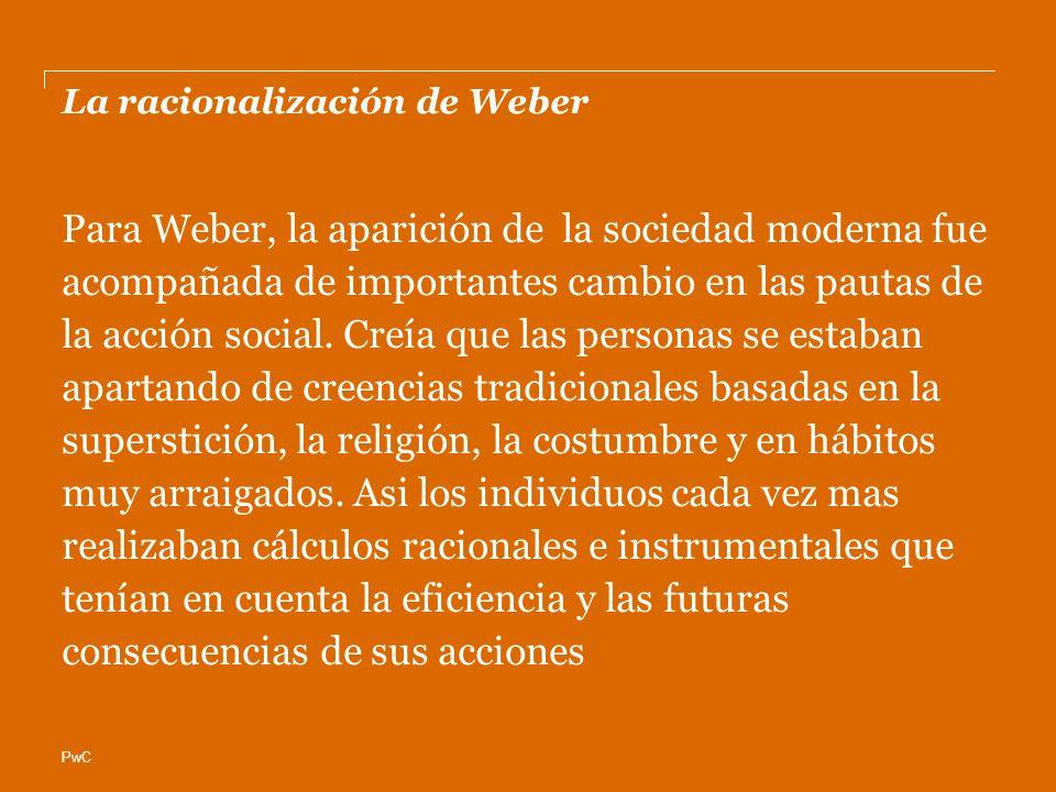 La racionalización de Weber