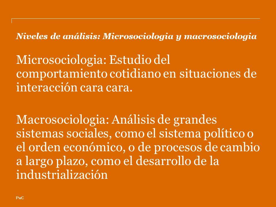 Niveles de análisis: Microsociologia y macrosociologia