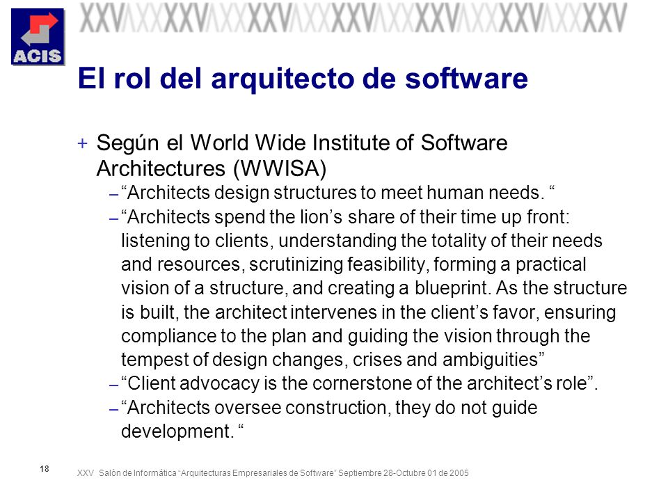 El rol del arquitecto de software