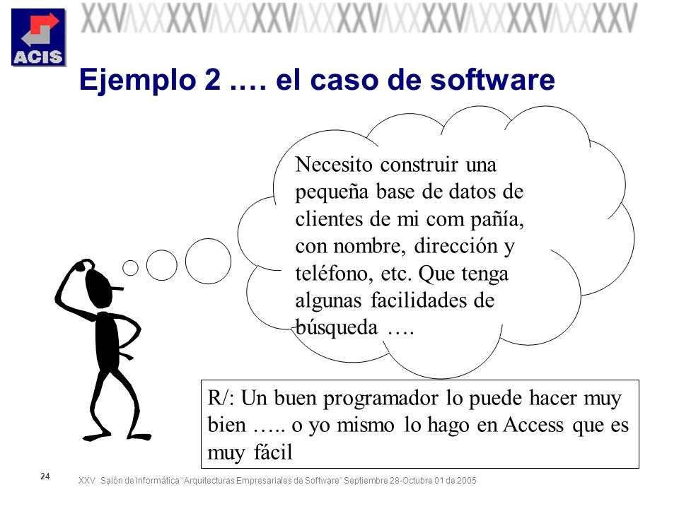 Ejemplo 2 .… el caso de software