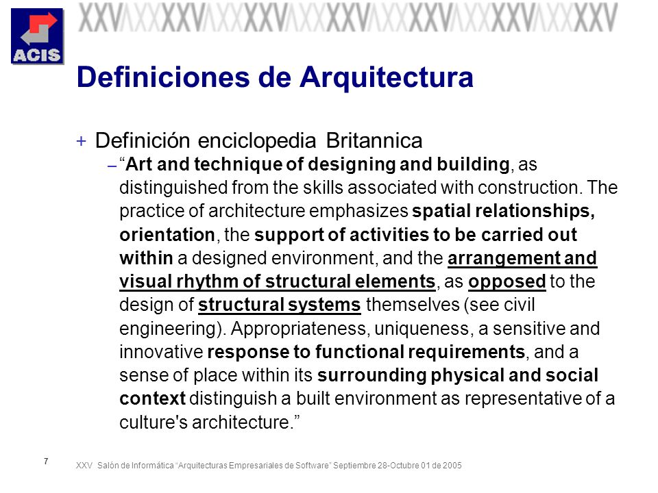 Definiciones de Arquitectura
