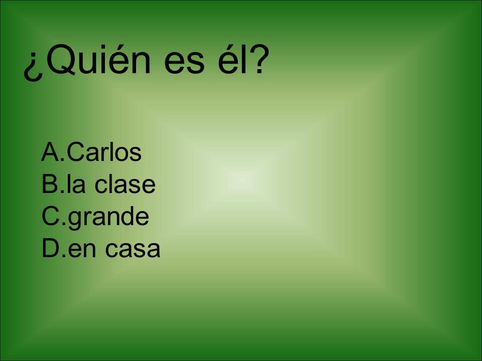 ¿Quién es él Carlos la clase grande en casa