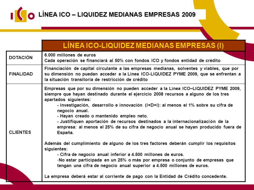 LÍNEA ICO-LIQUIDEZ MEDIANAS EMPRESAS (I)