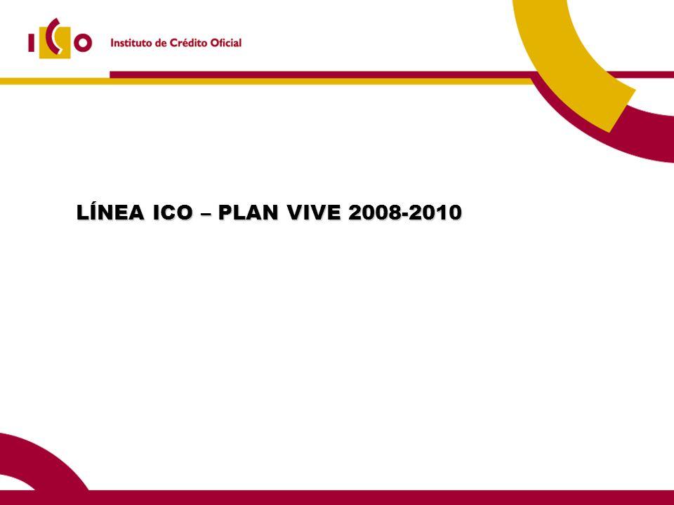 LÍNEA ICO – PLAN VIVE 2008-2010