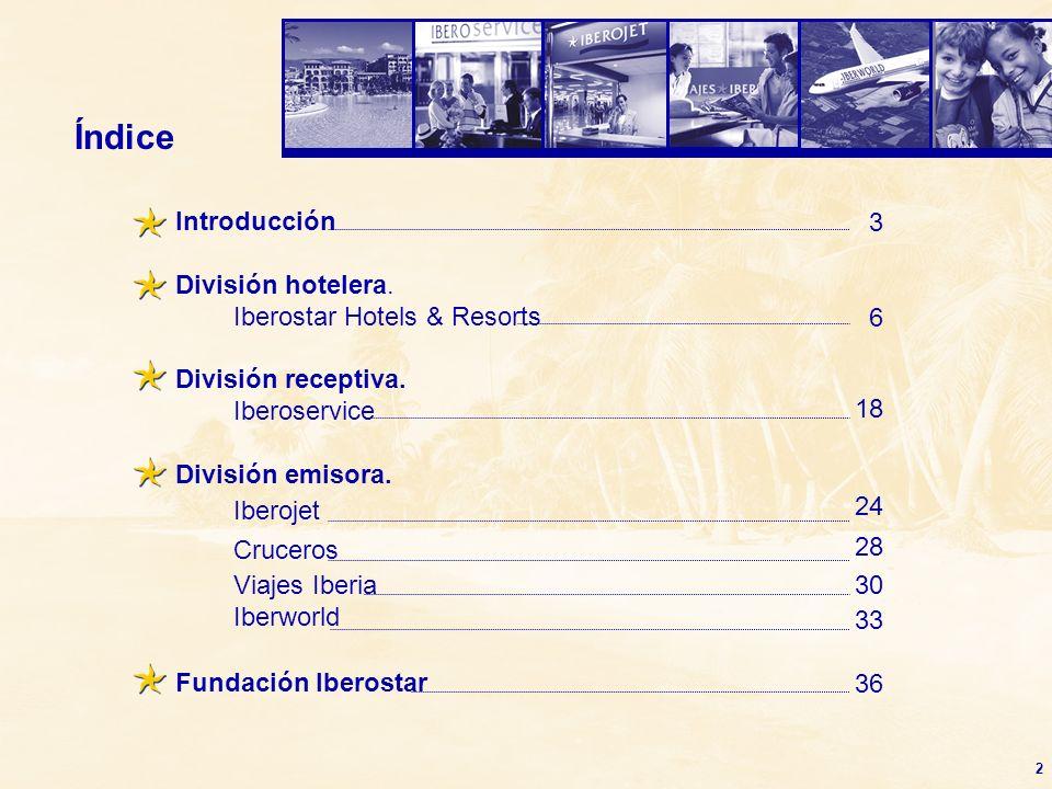 Índice Introducción 3 División hotelera. Iberostar Hotels & Resorts 6