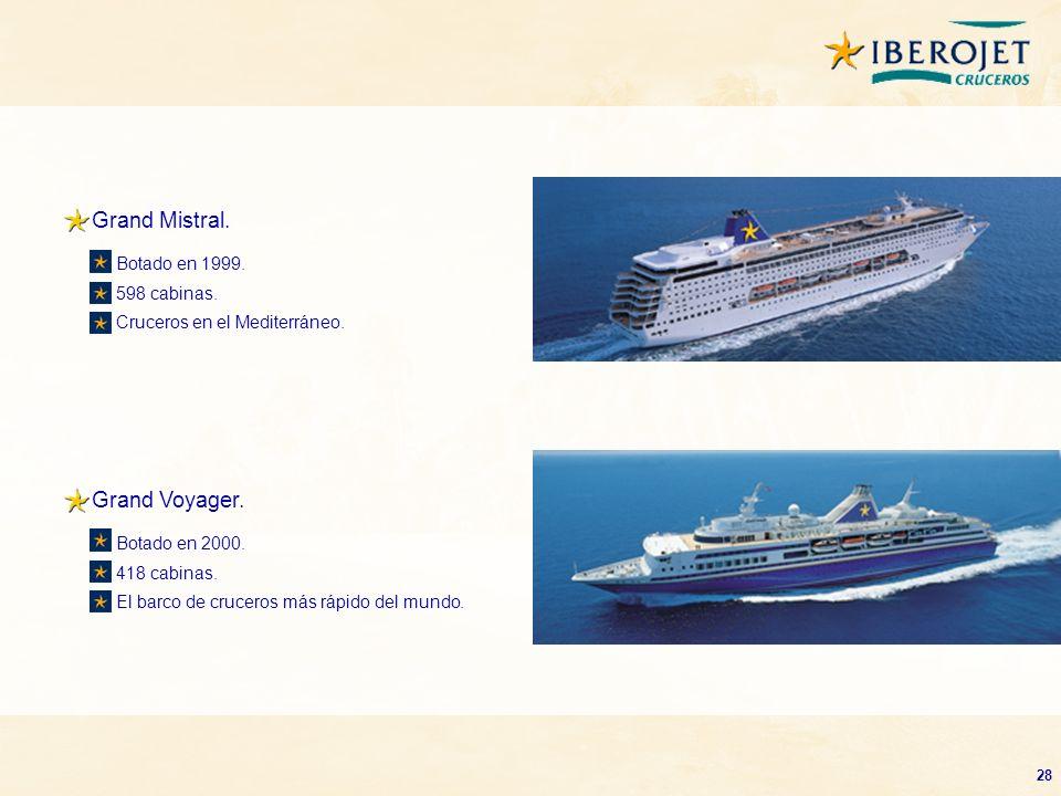 Grand Mistral. Grand Voyager. Botado en 1999. 598 cabinas.