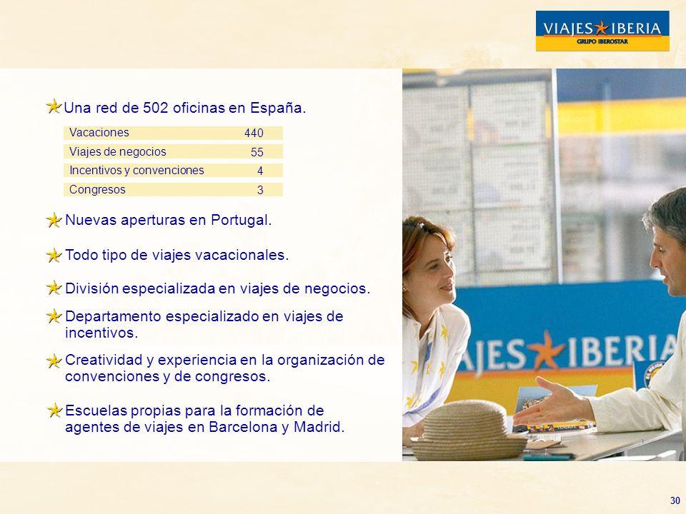 Una red de 502 oficinas en España.