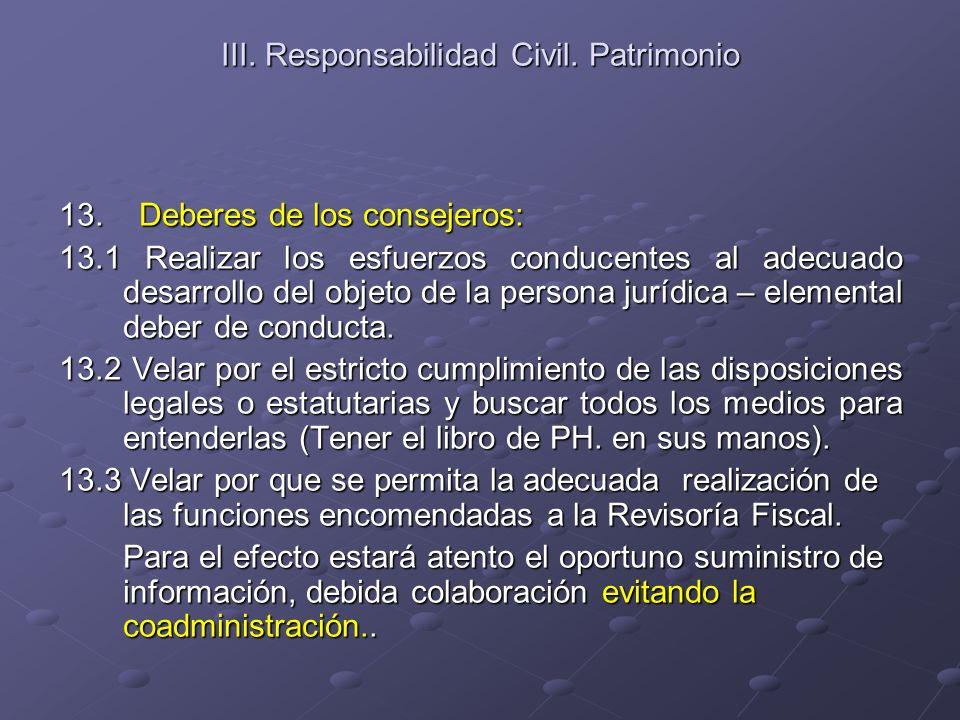 III. Responsabilidad Civil. Patrimonio