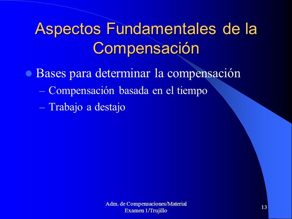 Aspectos Fundamentales de la Compensación