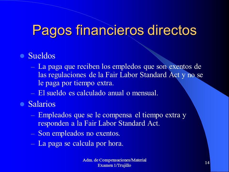 Pagos financieros directos