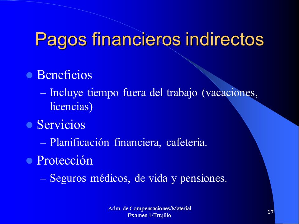 Pagos financieros indirectos