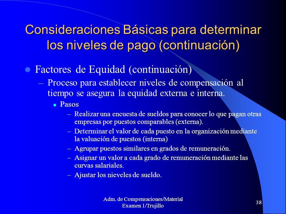 Adm. de Compensaciones/Material Examen 1/Trujillo