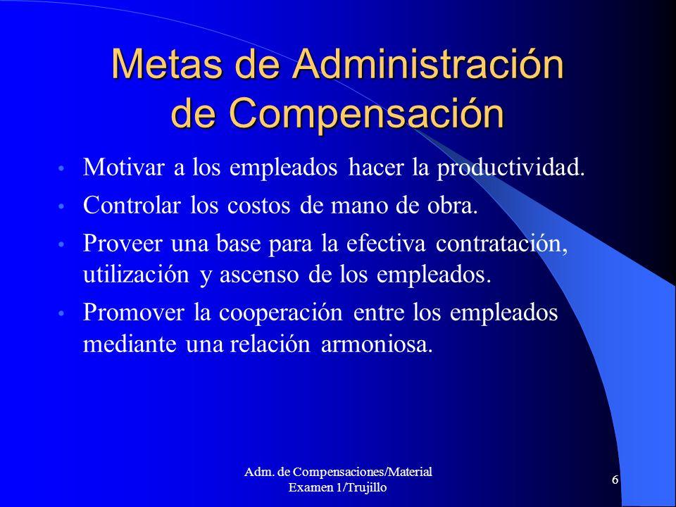 Metas de Administración de Compensación