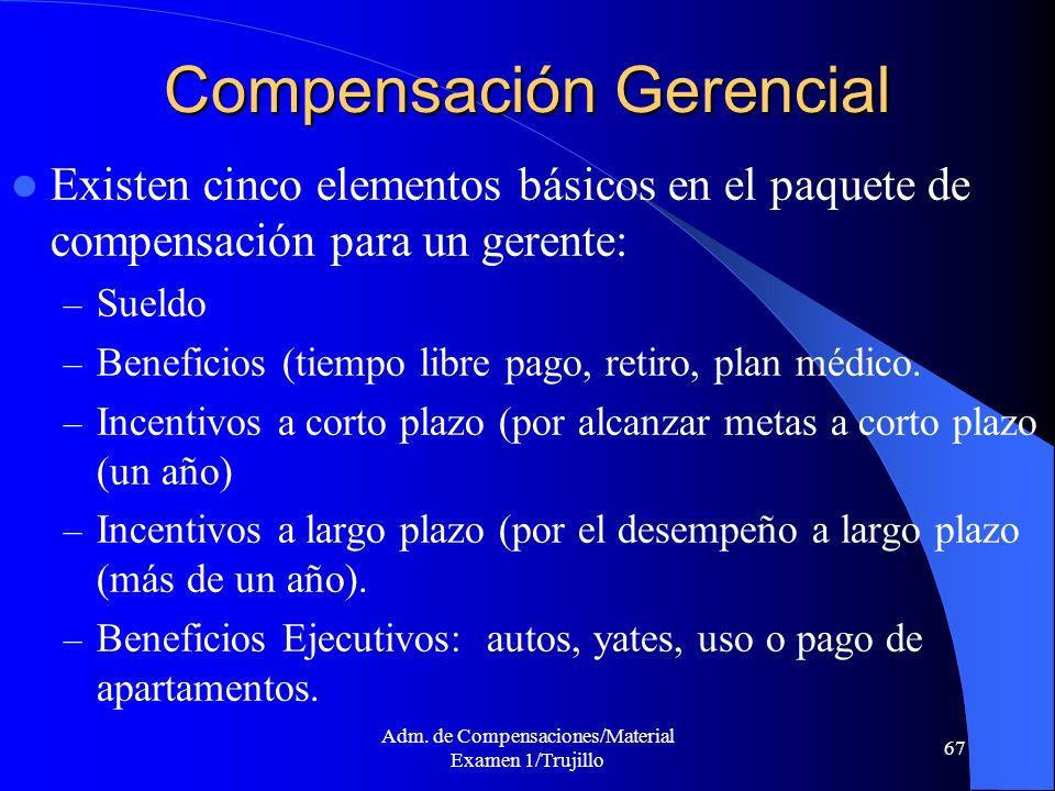Compensación Gerencial