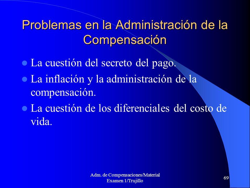 Problemas en la Administración de la Compensación