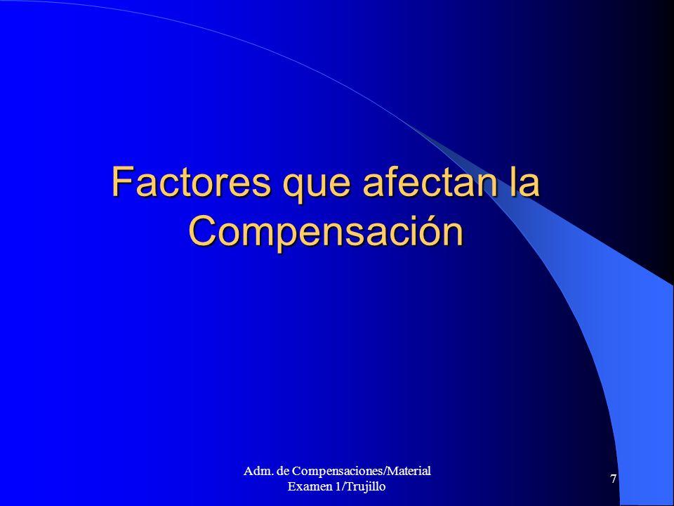 Factores que afectan la Compensación