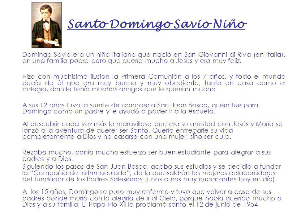 Santo Domingo Savio Niño