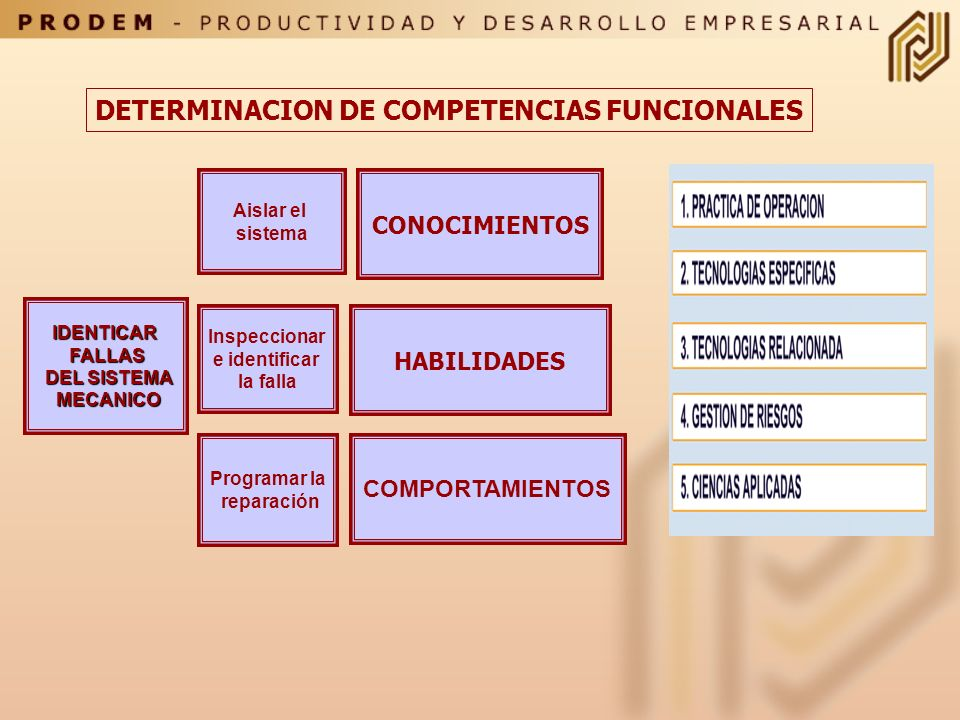 DETERMINACION DE COMPETENCIAS FUNCIONALES