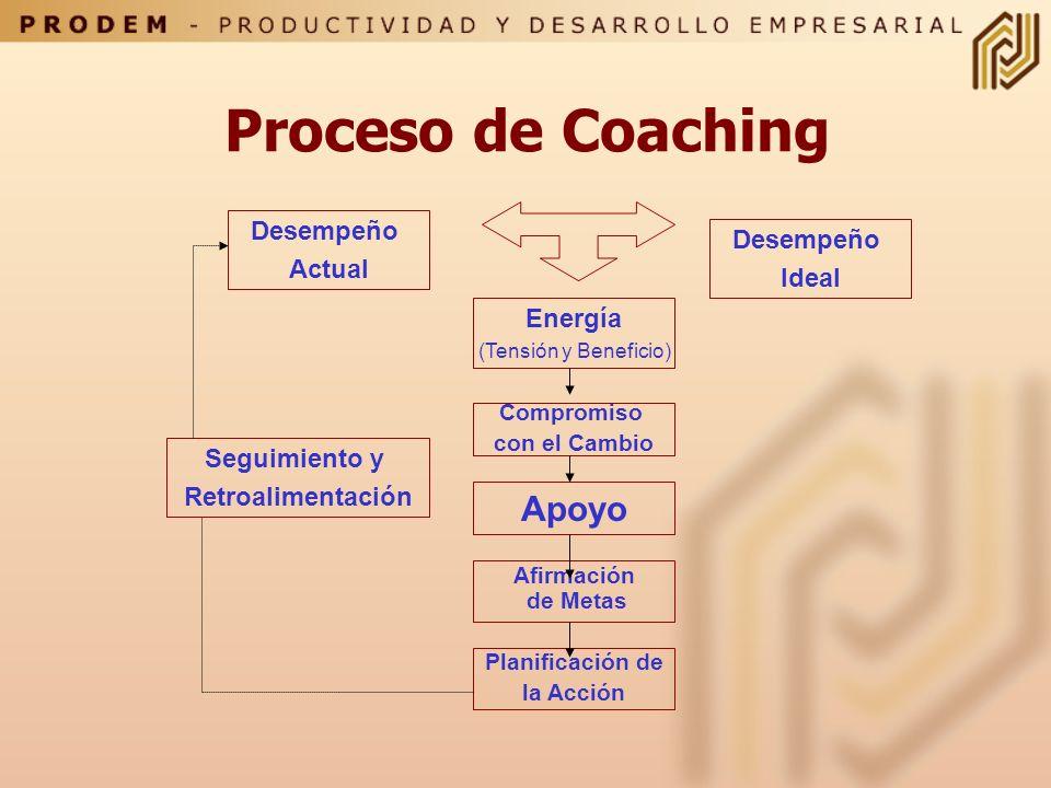 Proceso de Coaching Apoyo Desempeño Desempeño Actual Ideal Energía