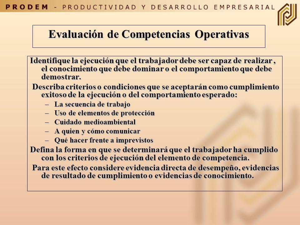 Evaluación de Competencias Operativas